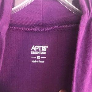 Apt. 9 Tops - Short sleeve mock turtleneck top